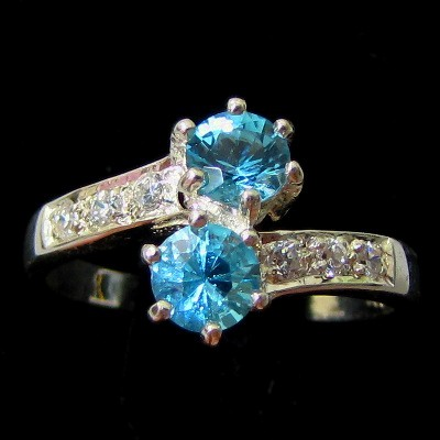 2.30g Natural Swiss Blue TOPAZ Ring Silver Jewelry Sz 6.5
