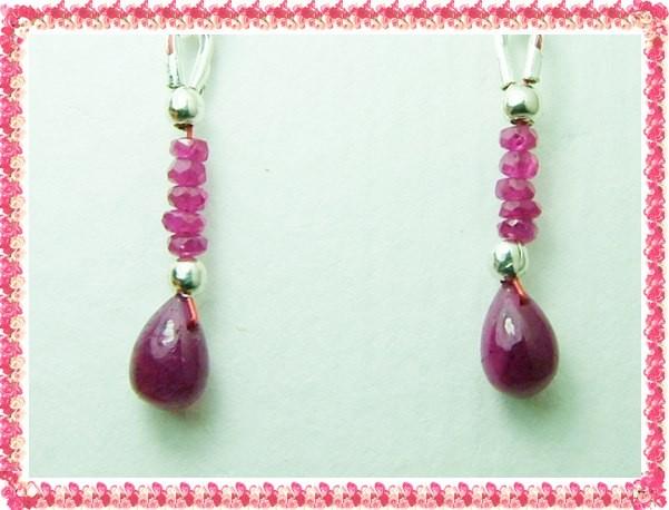 Quality African Ruby .925 Silver Earrings JW41