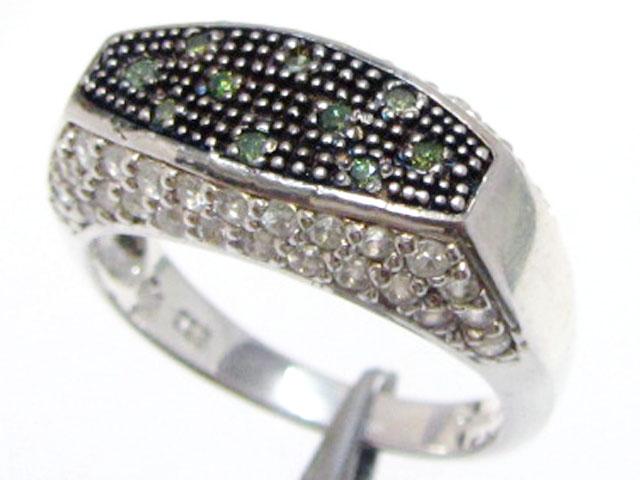 Peridot Gemstone set in silver ring size 9  MJA 800