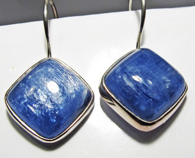 KYANITE EARRINGS-SILVER [SJ4175]