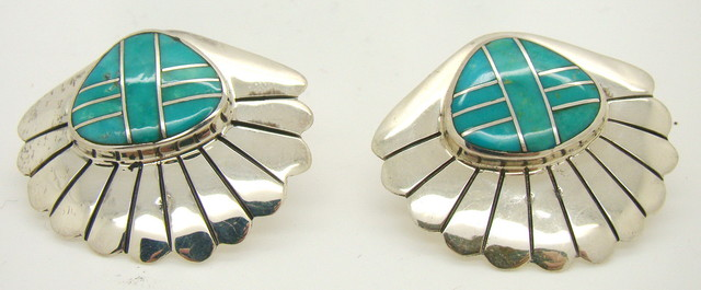Sterling Silver and Turquoise Earrings JA-53