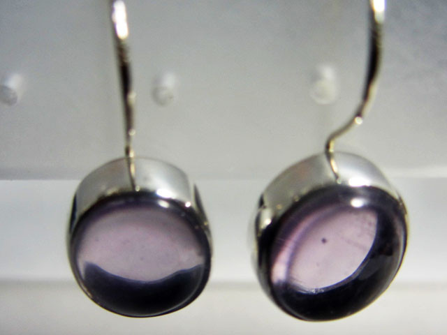 AMETHYST GEMSTONE SHEPPARD HOOK SILVER EARRINGS  MGMG 408