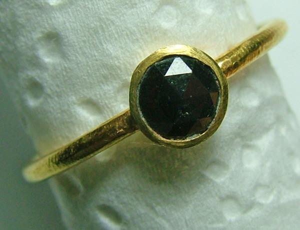 BLACK DIAMOND RING ROSE CUT 5.8 CTS SG-417