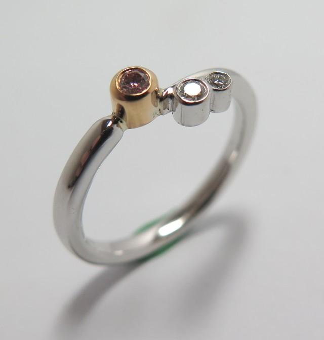 Australian Pink Diamond Ring