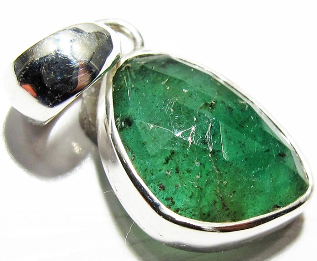 EMERALD NATURAL PENDANT-FACTORY DIRECT [SJ4118]5