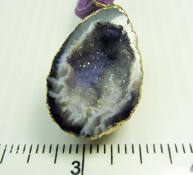 CRYSTAL DRUSY AGATEGEODE   PENDANT   QT400