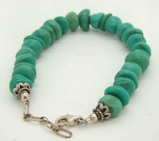 Turquoise Nugget Bracelet  JA-110