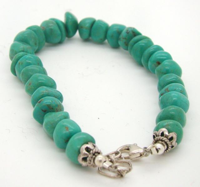 Turquoise Nugget Bracelet  JA-51