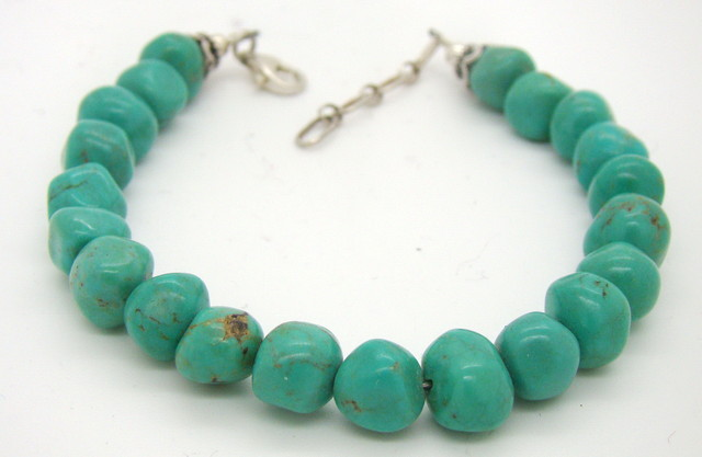 Turquoise Nugget Bracelet JA-20