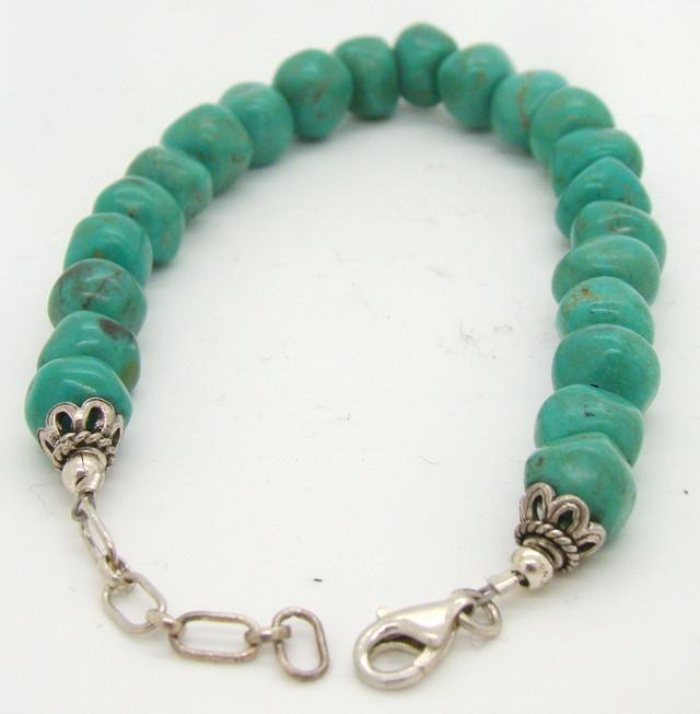 Turquoise Nugget Bracelet (JA-7