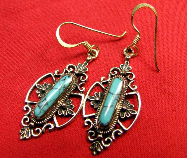 HOWLITE BRONZE EARRINGS RT 294