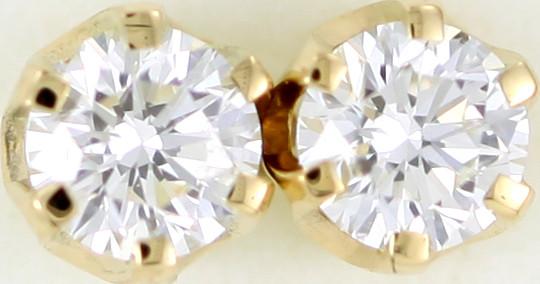 Australian 9ct  Gold Classic Diamond Earrings .50 ct  JAO 38