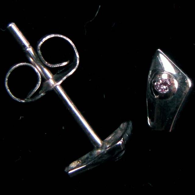 AUSSIE ARGYLE SOFT PINK DIAMOND EARRINGS 18K WHITE GCJ 1716