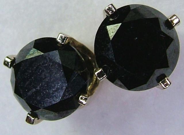 BLACK DIAMOND  EARRINGS 14K 1.43 CTS  SG-1041