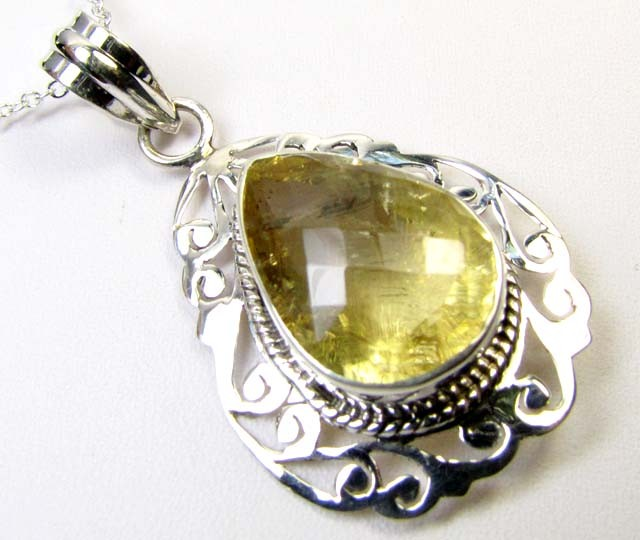 CITRINE SILVER PENDANT 48.80 CTS MGMG 34
