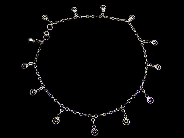 SILVER ANKLET   925  CHAIN  10  INCHES  /  25 CM  CMT 107