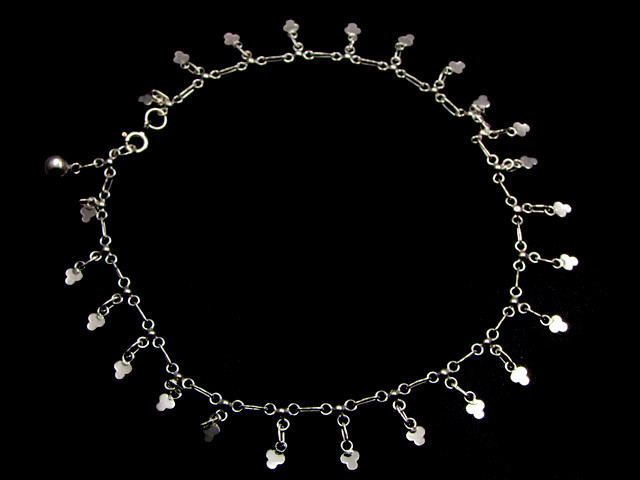 SILVER ANKLET   925  CHAIN  10  INCHES  /  25 CM  CMT 110