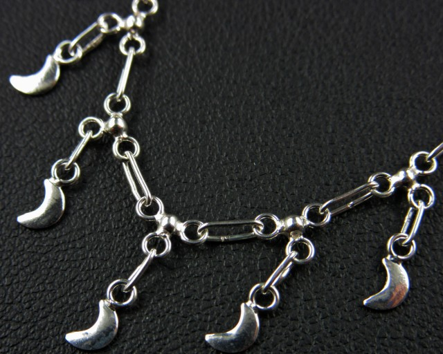 MOON ANKLET 925 SILVER CHAIN 22.5 CM CMT 134