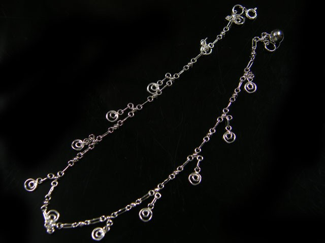CIRCLE CHARM ANKLET SILVER 925 CMT 108