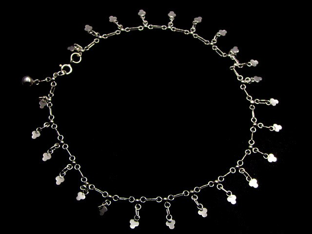 LUCKY CLOVER  CHARM ANKLET SILVER 925 CMT 125