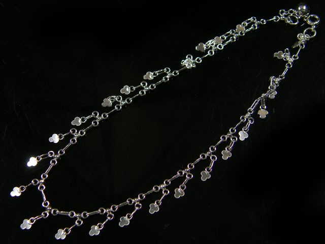 LUCKY CLOVER CHARM ANKLET SILVER 925 CMT 191