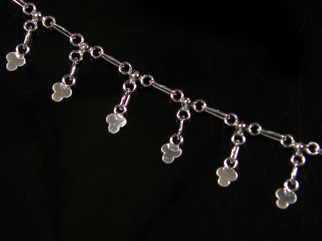 LUCKY CLOVER CHARM ANKLET SILVER 925 CMT 192