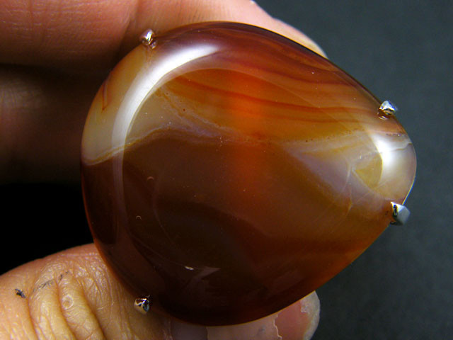 LARGE BRAZIL AGATE STONE RING ADJUSTABLE SIZE AAT331