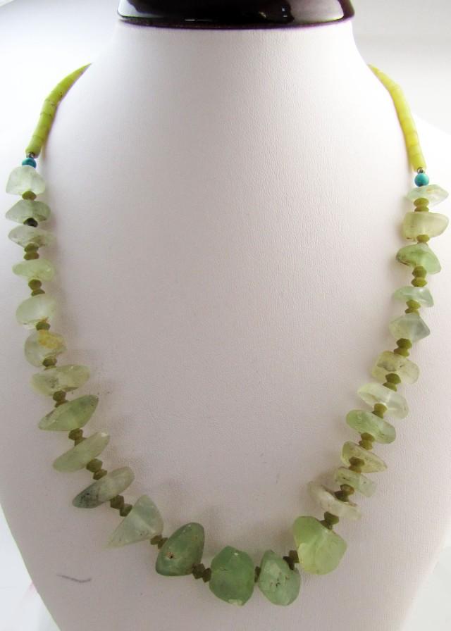 295 Cts  Roman Glass necklaces MJA1156
