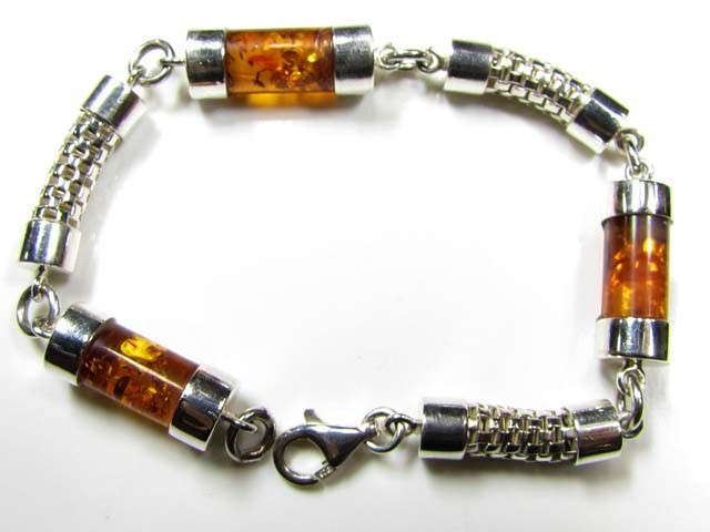 HEAVY BALTIC    AMBER SILVER   BRACLET   117 TCW   MYG 746