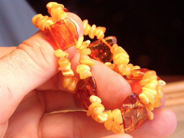 Lithuania Baltic Amber Bracelet - Natural Amber Gems