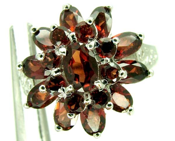 GARNET  SILVER RING  28.50 CTS  SIZE-9    RJ-229