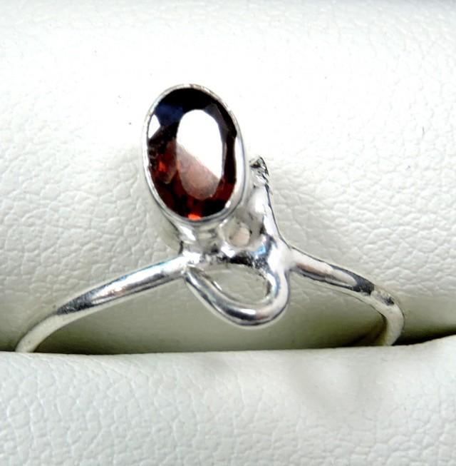 Cute Natural Garnet Ring Size  8 JGG 110