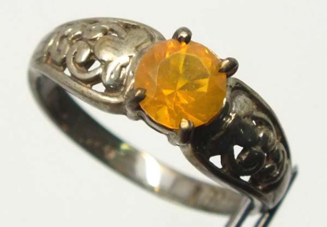 CITRINE SILVER RING  11.82 CTS  TBJ-719