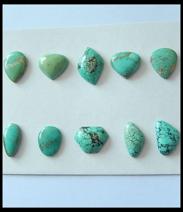10 PCS Parcel Cabochons Turquoise Gemstone Cabochons,58ct