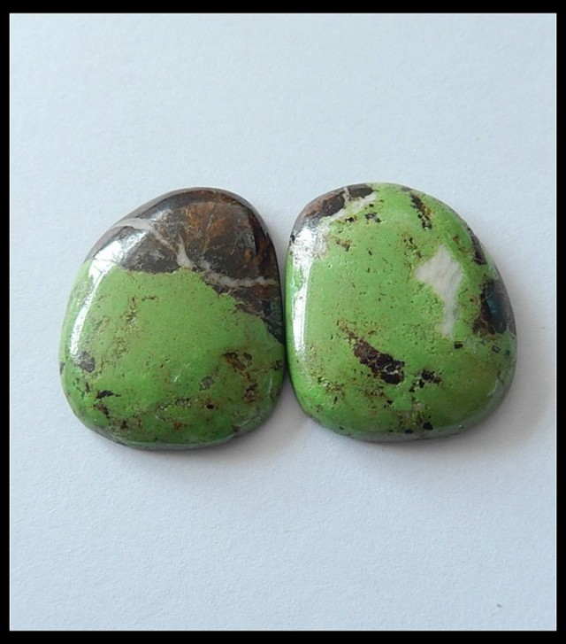 43.5ct Turquoise Gemstone ,Gemstone Pair ,Wholesale Gemstone