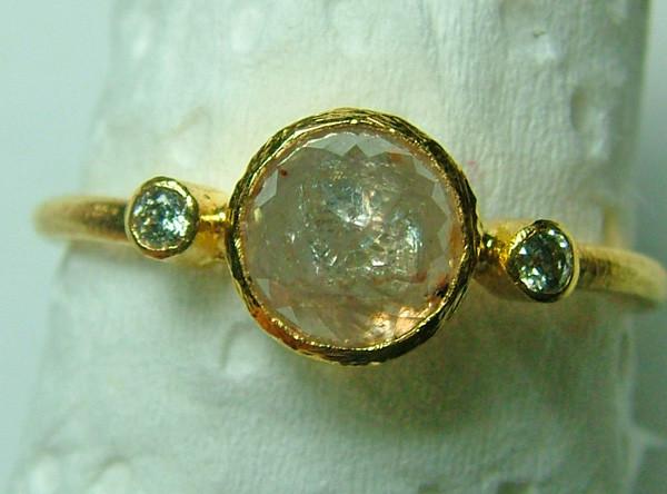 9.50 CTS DIAMOND CYRSTAL ROSE CUT RING SIZE-7 - SG-404
