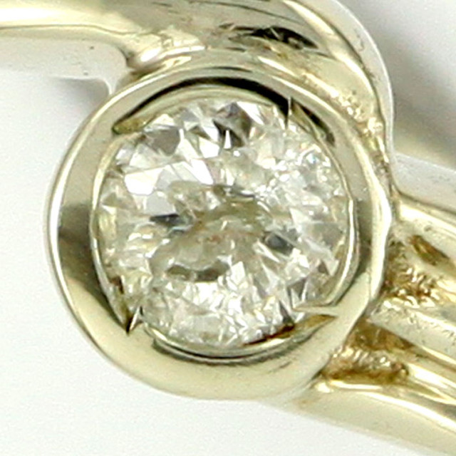 AUSTRALIAN DIAMOND .08 WHITE 18K GOLD RING SIZE 6.5 OP1817
