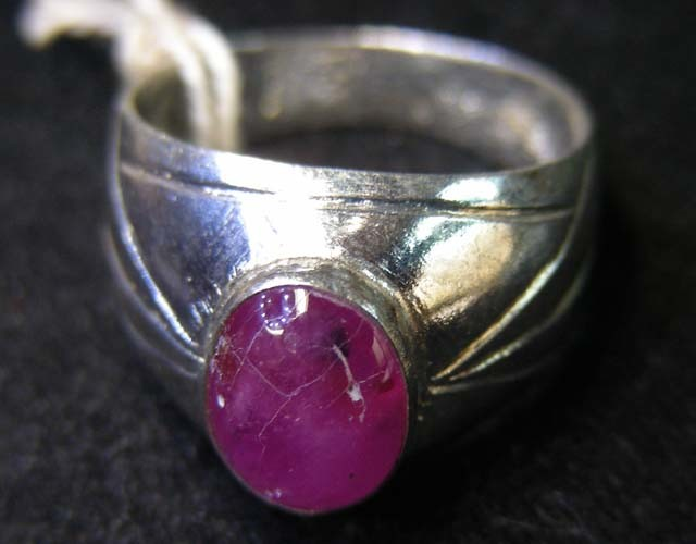 NATURAL  RUBY IN TIBETAN  RING  SIZE 8  11 096