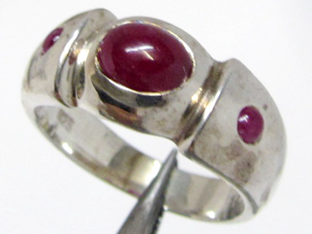 Ruby in silver Ring Size 9.5   MJA 819
