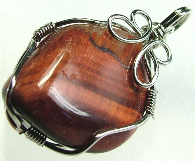 RED TIGER EYE PENDANT 42.40 CTS [GT390 ]