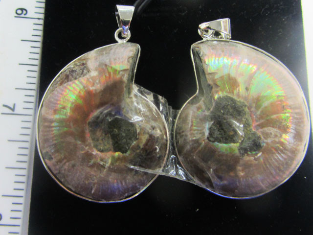 108 cts TWIN AMMONITE PENDANT FROM MADAGASCAR MGMG 413