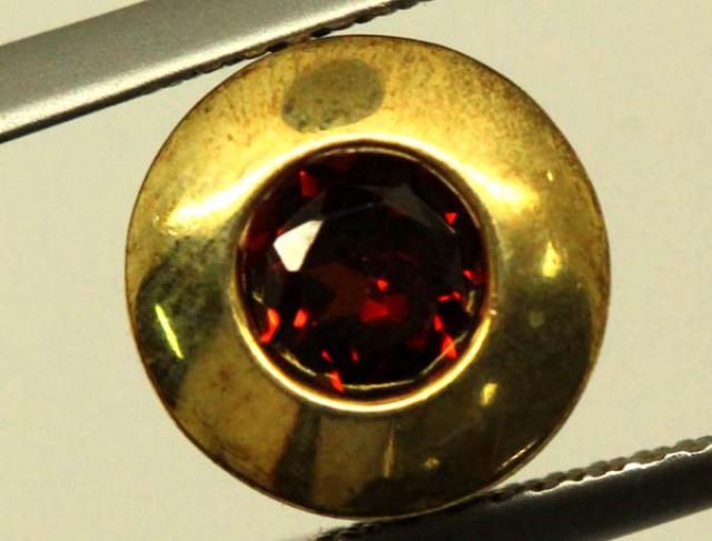GARNET GOLD LATED SILVER PENDANT 4.35 CTS LJ-85