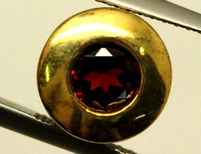 GARNET GOLD PLATED SILVER PENDANT 4.60 CTS LJ-86
