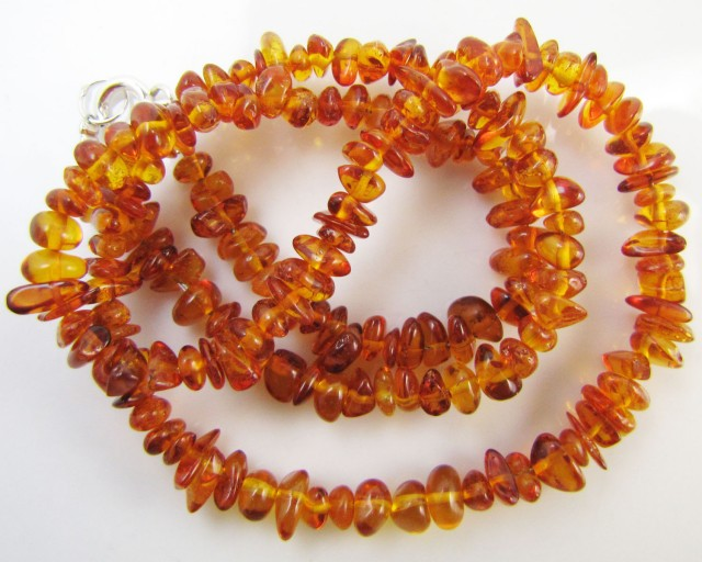 33Cts Amber   Necklace    two tone    MJA1141