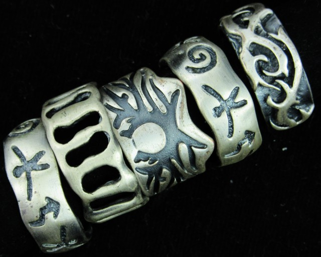 Pewter Rings 5 Mixed designs   PE48