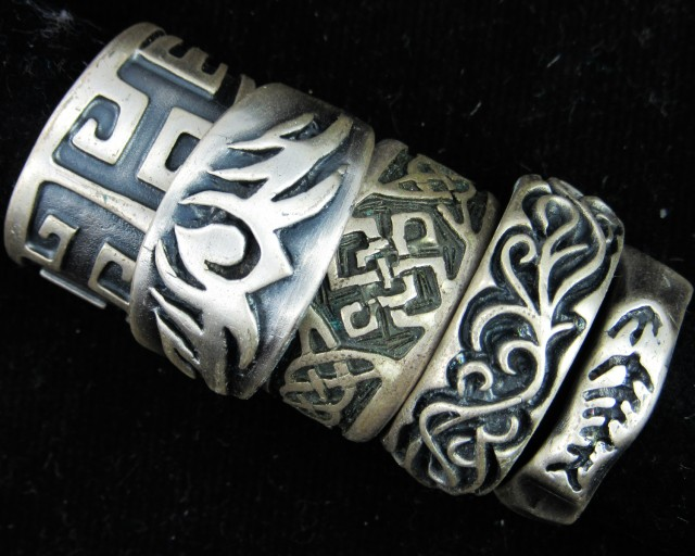Pewter Rings 5 Mixed designs   PE61