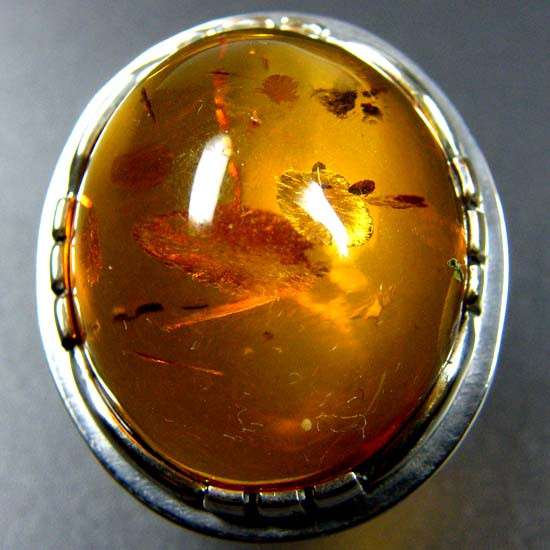 LARGE BALTIC AMBER RING SIZE 11.5 MYG1224