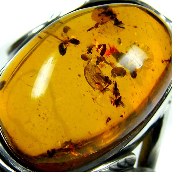 LARGE BALTIC AMBER RING SIZE 10.5 MYG1228