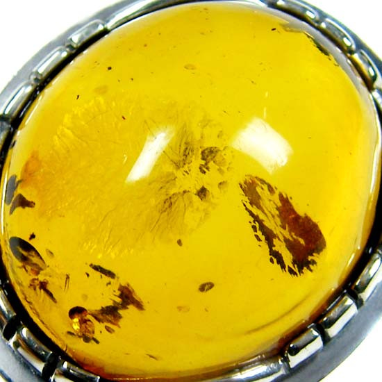 LARGE BALTIC AMBER RING SIZE 11 MYG1249