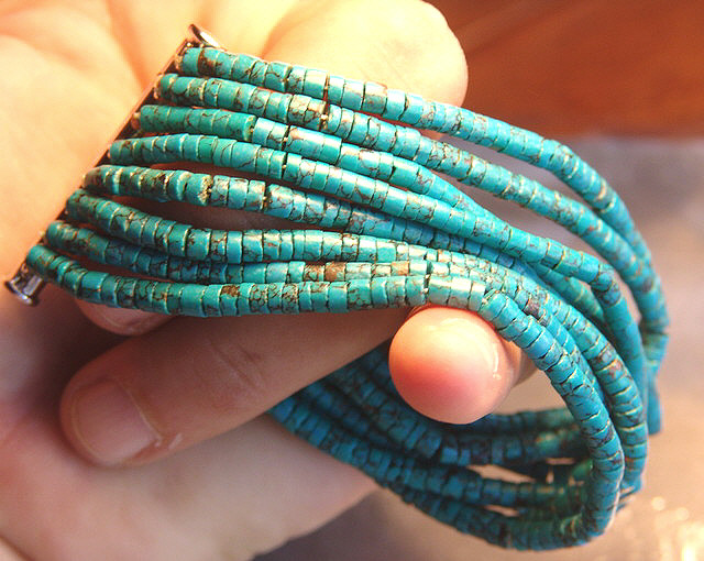 Turquoise Bracelet 8 1/4 Inches - Beautiful